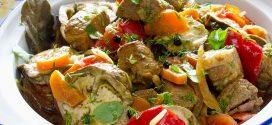طريقة تحضير طاجن اللحم بالبصل والفلفل