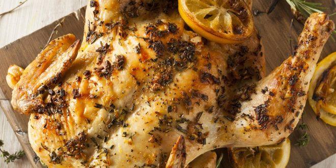 عمل دجاج بالزعتر والليمون للريجيم