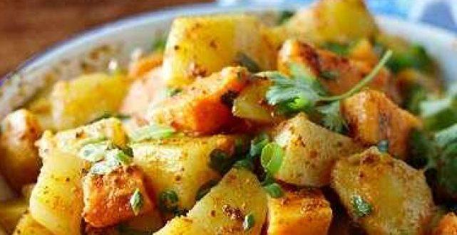 طريقة عمل البطاطا بالكاري