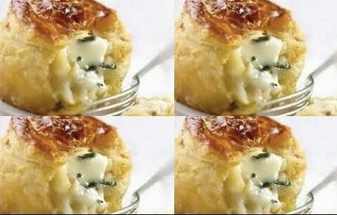 فطائر الجبن الأبيض مع النعناع الأخضر
