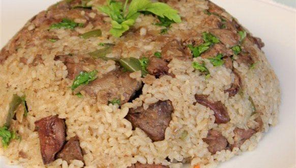 طريقة عمل أرز بالكبد